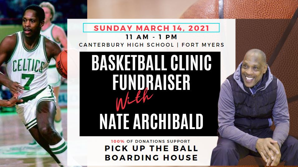 Basketball clinic with Nate Archibald, March 14, 2021 at Canterbury Highschool Fort Myers FL